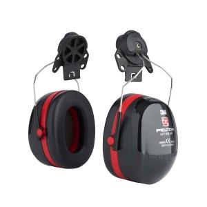 Helm-Kapselgehörschützer, 3M H540P3E Peltor Optime III, 34dB, schwarz/rot