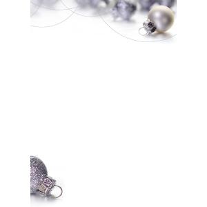 Designpapier Weihnachtskugeln A4, 100 g/m2, Packung à 10 Stück