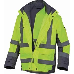 Warnschutzjacke 4-in-1 Deltaplus Tarmac, Typ EN20471 1-3, Regenfest, Gr. M, gelb