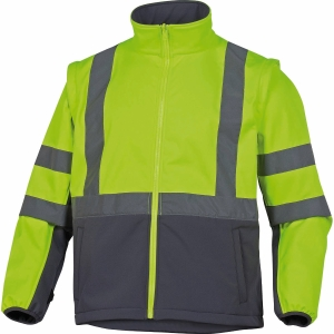 Warnschutzjacke 4-in-1 Deltaplus Tarmac, Typ EN20471 1-3, Regenfest, Gr. L, gelb