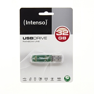 Speicher Stick Rainbow Line Intenso, 2.0, 32 GB, transparent