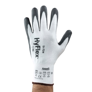 Schnittschutzhandschuhe Ansell HyFlex 11-724,Typ EN388 4342, Gr.8, wei/grau,Paar