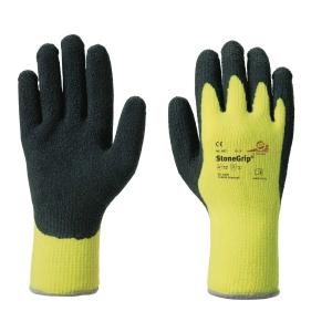 Kälteschutzhandschuhe KCL StoneGrip 692, Typ EN388 2141, 10, schwarz/gelb, 1Paar