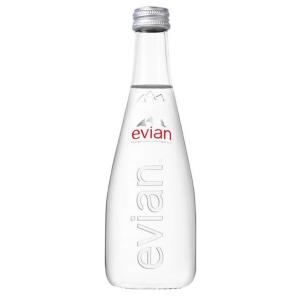Evian Mineralwasser ohne Kohlensäure, Glasflasche, 33 cl, Packung à 20 Flaschen