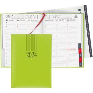 Agenda Biella Orario 809301, 1 Woche auf 2 Seiten, mit Registerschnitt, grün