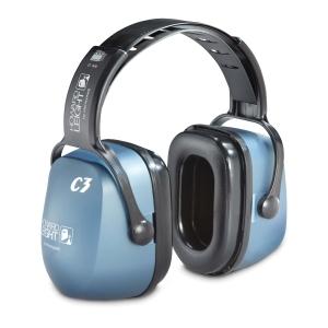 Kapselgehörschützer Honeywell Clarity C3, 33dB, mit Kopfbügel, graublau/schwarz