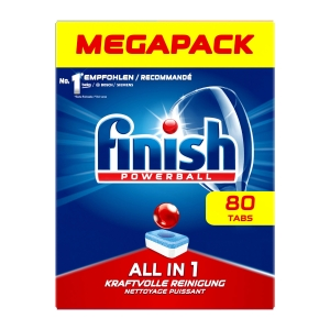 Geschirrspül-Tabs Finish all in one plus, Packung à 80 Stück