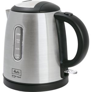 Wasserkocher Melitta Prime Aqua, 1 l, silber/schwarz