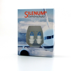 Gehörschutzpfropfen Silenum Travel, 20dB, weiss mit Kordl, Paar à 2 Stück