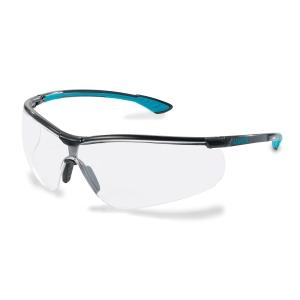 Schutzbrille Uvex sportstyle 9193, Filtertyp 2C, schwarz, Scheibe klar