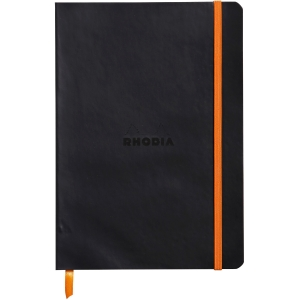 Notizbuch Rhodia Softcover A5, 80 Blatt, schwarz