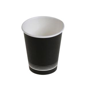Kaffeebecher nero aus Karton 1 dl, schwarz/weiss, Packung à 50 Stück