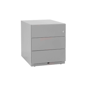Bisley Note role container, 3 universal drawers, central locking, silver