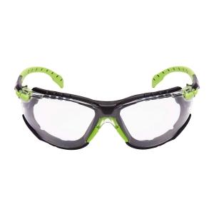 Schutzbrille 3M S1201, Filtertyp 2C, grün/schwarz, Scheibe farblos