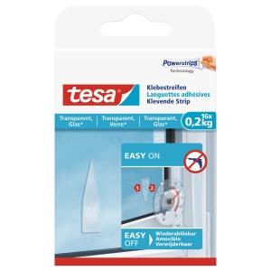 Klebestreifen Powerstrips Tesa 77732, Glas, 0,2kg, 16 Stück