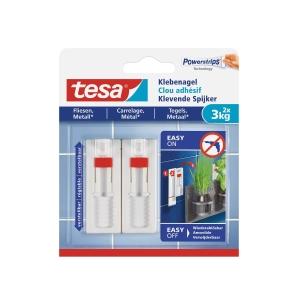 Verstellbarer Klebenagel Tesa 77764, Fliese, Metall, 3 kg, 2 Stück