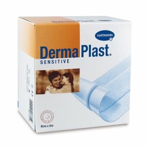 DermaPlast Sensitive Wundschnellverband, 5mx8 cm, weiss