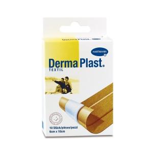 DermaPlast Textil Wundschnellverband, 6x10 cm, hautfarbig, Packung à 10 Stück