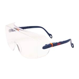Über-/Schutzbrille 3M 2800, Filtertyp 2C, transparent/schwarz, Scheibe farblos