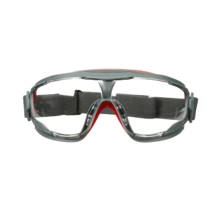 Vollsicht Schutzbrille 3M GG501, Filtertyp 2C, grau/rot, Scheibe farblos