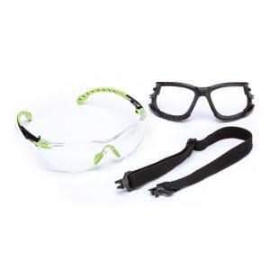 Schutzbrille, Schaumrahmen u. Kopfband 3M S1201KT, Filtertyp 2C, Scheibe farblos