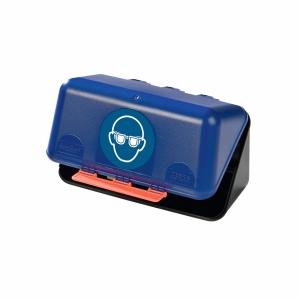Aufbewahrungsbox für Schutzbrillen,ABS-Kunststoff, B236xT120xH120 mm, blau