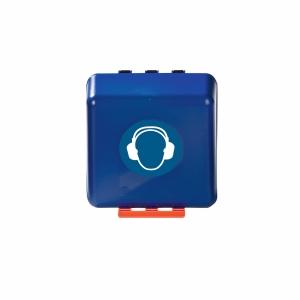 Aufbewahrungsbox für Kapselgehörschützer, ABS, B236xT125xH225 mm, blau