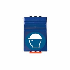 Aufbewahrungsbox für Helme, ABS-Kunststoff, B236xT200xH315 mm, blau