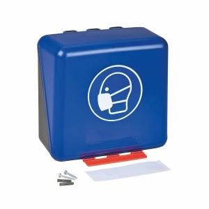 Aufbewahrungsbox für Atemschutzmasken, ABS, B236xT125xH225 mm, blau