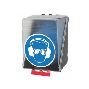 Aufbewahrungsbox für Augen- und Gehörschutz, ABS, B236xT205xH315 mm, transp.