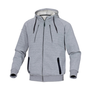 Sweatshirt Jacke Deltaplus Anzio, Molton/Polyester/Baumwolle, Grösse L, grau