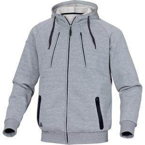Sweatshirt Jacke Deltaplus Anzio, Molton/Polyester/Baumwolle, Grösse XL, grau