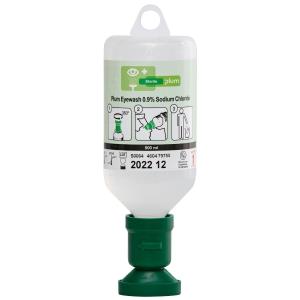 Augenspülflasche mit steriler Natriumchloridlösung, Plum 4604, Flasche à 500 ml