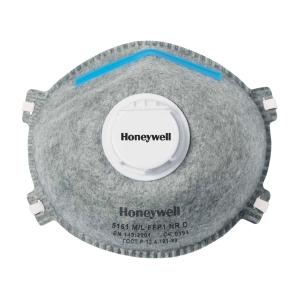 Atemschutzmaske Honeywell 5161, FFP1 + anorganische Gase,m. Ventil,Pk. à 20 Stk.