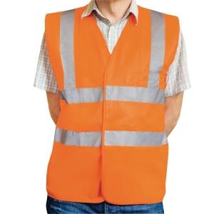 Warnschutzweste Eskon, Klasse 2, Typ EN20471, Grösse M, orange