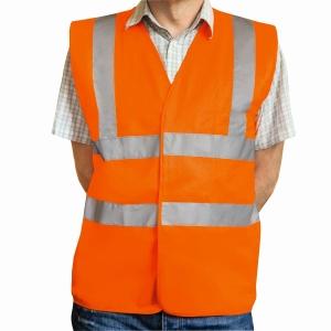 Warnschutzweste Eskon, Klasse 2, Typ EN20471, Grösse L, orange