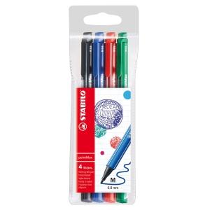 Stabilo 488 pointMax kuitukärkikynä 0,8mm värilajitelma, 1 kpl = 4 kynää