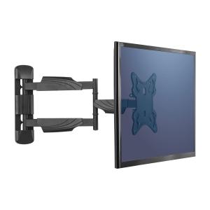 Fellowes seinäteline TV:lle tai näytöllle, musta
