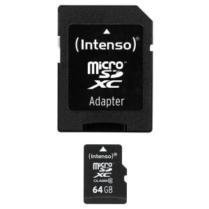 Intenso Micro SDXC muistikortti 64GB, class 10