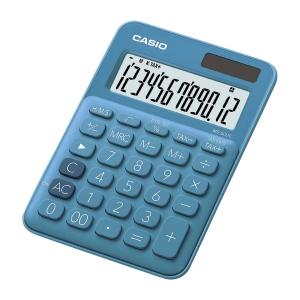 Casio MS-20UC pöytälaskin sininen 12 numeron näyttö