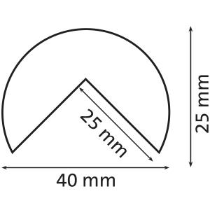 Knuffi reunasuoja type a pu 5m musta/keltainen
