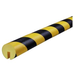 Knuffi reunasuoja type b pu 1m musta/keltainen