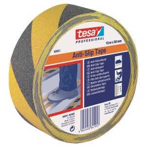 Tesa anti-slip teippi 50mmx15m musta/keltainen
