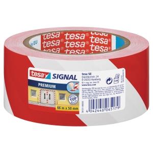 Tesa 58131 Signal Premium -teippi, puna/valkoinen