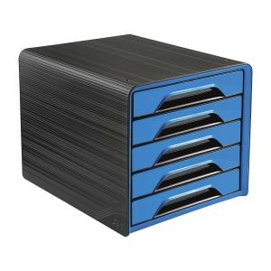Cep Smoove laatikosto 5-osainen, musta/sininen