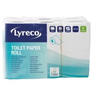 Lyreco wc-paperi 2-kertainen, myyntierä 1 kpl = 12 rullaa