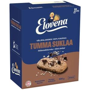 Elovena välipalakeksi tumma suklaa 30g, 1 kpl=10 keksiä