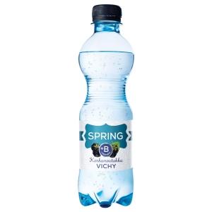 Spring Vichy+B maustettu kivennäisvesi karhunvatukka 0,33L, 1 kpl=12 pulloa