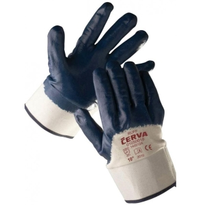 Cerva ruff nitriilikäsine 10 sininen, myyntierä 1 kpl = 1 pari
