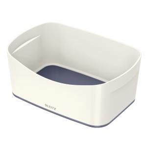 Leitz MyBox Säilytyslaatikko, valkoinen/metalliharmaa